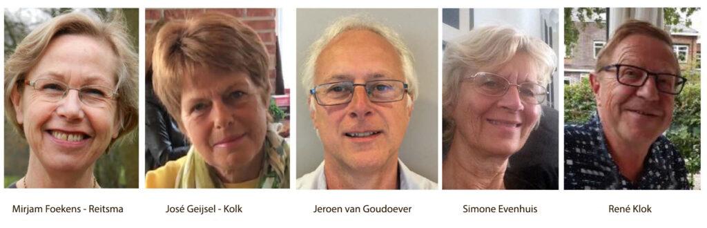 Bestuur van het Paulukoor Amstelveen 2021